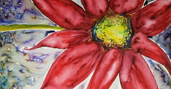 Image of flower watercolor painting