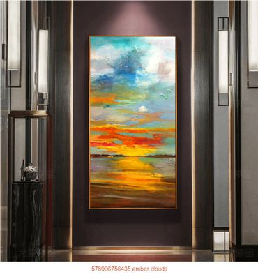 abstract oil painting 578906756435 amber clouds
