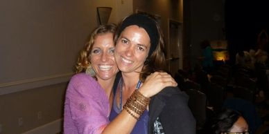 Samantha and a friend at a Chopra event at the Chopra Center in Carlsbad California