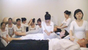 Reiki students at the Fusion Maia Resort & spa, da nang, Vietnam