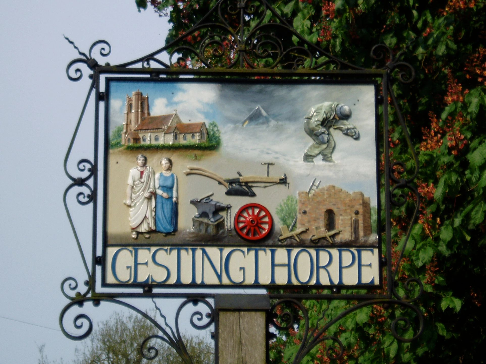 Gestingthorpe Village Sign