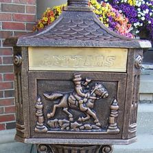 Victorian Wall Mount Mailbox from Steel Mailbox Company