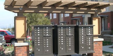 Cluster box units from Steel Mailbox company