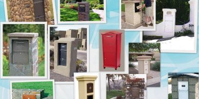Masonry - Column Mailboxes from Steel Mailbox company
