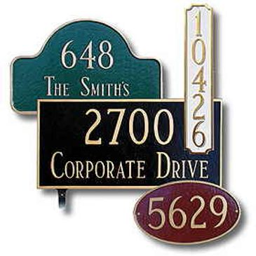 Decorative Plaques and Signs from Steel Mailbox Company