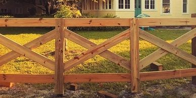 Farm Fence Lithia, Agriculture Fence Brandon FL, Cross Fence Lakeland, Cross Buck Fence Plant City