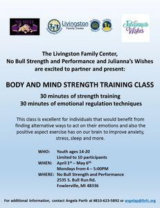 Body and Mind Strength Training Class