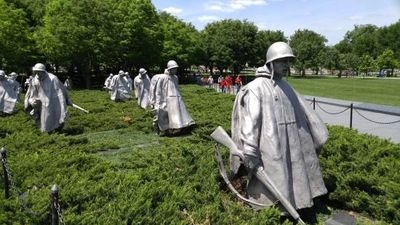 2018 Washington DC. Bus Tour - Korean War Memorial.