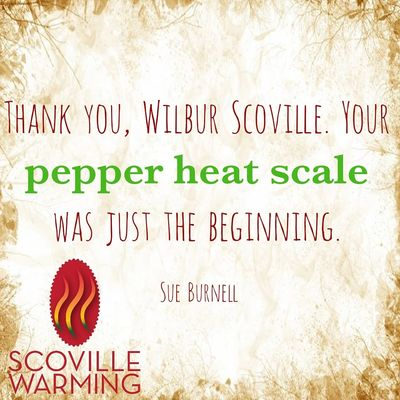 The Scoville Scale developed by Wilbur Scoville measures the relative heat of a chile pepper.