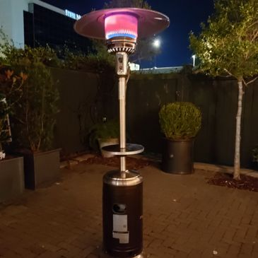 Rental Patio Heaters available at Emerald Coast Event Rentals
