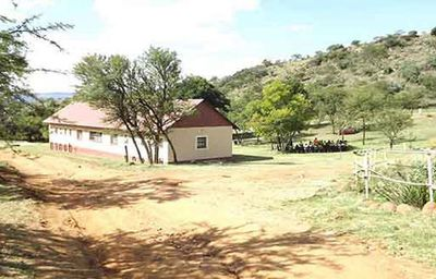 Bushcamp camp ground with communal ablutions