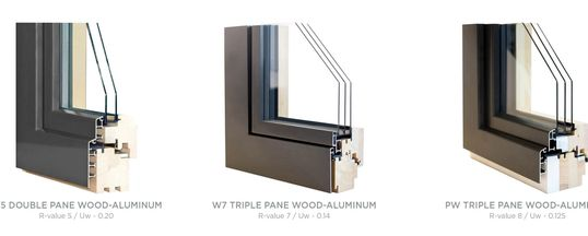 European Tilt Turn Window with Double pane or Triple Pane Glass Aluminum Exterior and Wood Interior