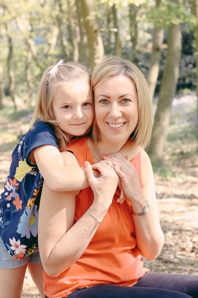 Mum and daughter having fun and sharing the love in the woods!  Taking some natural, relaxed photos