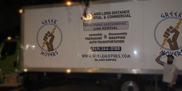 Greek Movers, local movers near me, moving company in my area, movers & lifters, inland empire, move