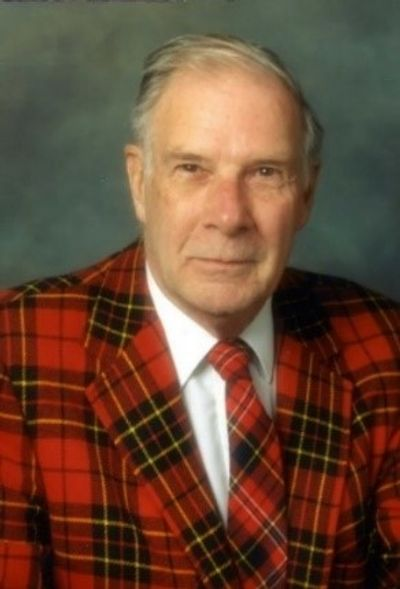 Richard Wesley Hamming in his signature red plaid jacket.