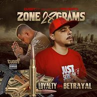 Cuddy of Cali Life Musik presents Zone 28 Grams- Loyalty B4 Betrayal. A banging ass album, if you lo