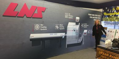 8'x20' trade show display for LNS.