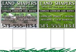 full color 18x24 yard signs
