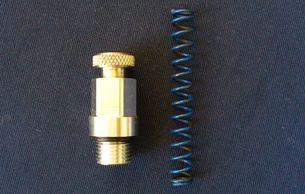Harley Shovel and Evo adjustable relief valve spring cap with relief spring. E.R.T. Products