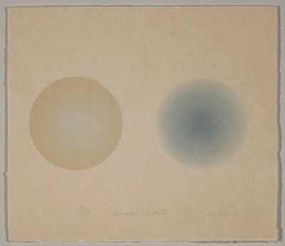 Sky lithograph by Tomomi Ono