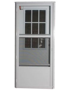Steel Cottage Combo All Glass Storm Storm Shown with standard, Both Available  Standard Sizes: 32x72