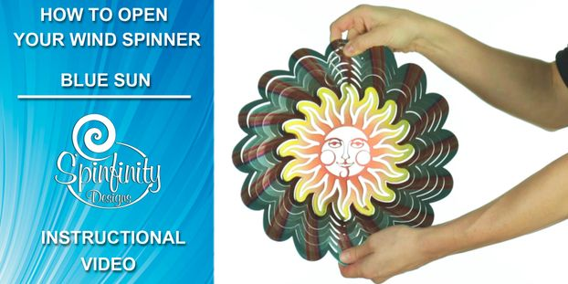 How to open your wind spinner instructional video