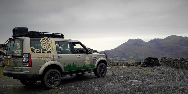 Land Rover Discovery in Wales with Celtic Routes Ltd.