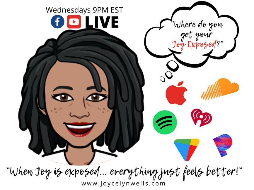 Joycelyn Wells, Joy Exposed Podcast, apple, iTunes, googleplay, spotify, soundcloud, youtube, pandor
