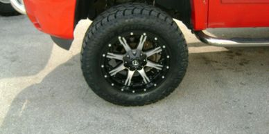 wheel and tire combo, mount and balance, icon, moto metal, mud tire, super swamper tsl, all terrain
