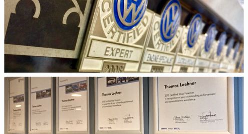 Brunos VW Audi Certifications