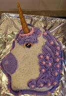 Unicorn Cake decorated and baked by Abby's Bakery. Photo property of Abby's Bakery, Tonganoxie KS