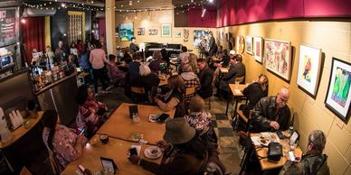 The Little Theatre Cafe in Rochester is a great place for coffee, food, and music.