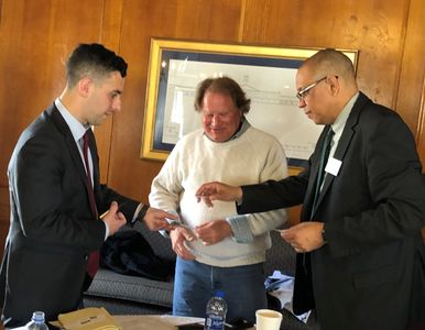 Ryan Sanzari, Dr. Dale Caldwell and Harry Gates