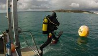seawatch  commercial dive boat for survey media sport and technical diving from Falmouth Cornwall