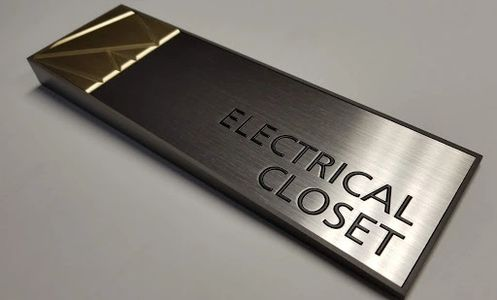 Architectural signage for electrical closets