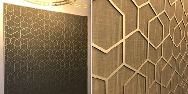 Decorative architectural screen for lobby or reception