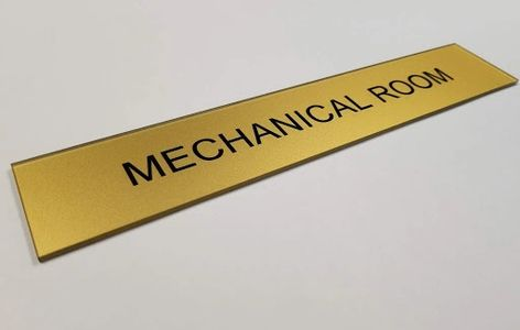 basic back of house commercial or high rise mechanical room sign