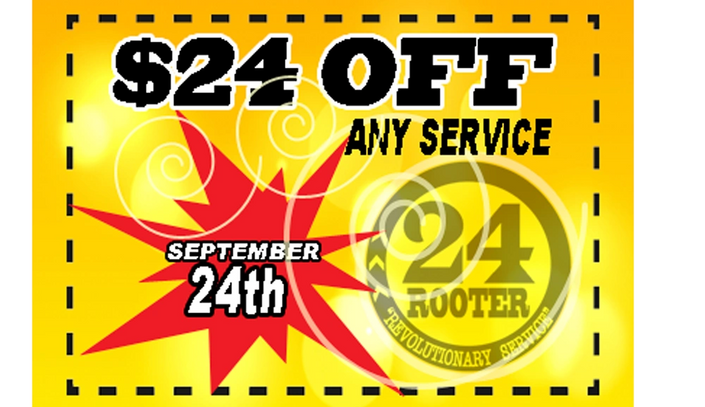 24 Rooter Roto Plumbing Coupon in Yakima WA. Roto Rooter alternative in yakima