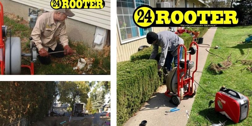 24 rooter of yakima plumbing and drain cleaning photo montage for photo gallery