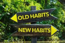 Out with the old habits and in with the new healthy habits that will get you to your fitness goals!