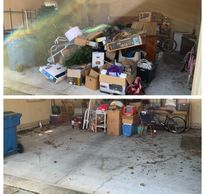 Large garage clean-out junk removal