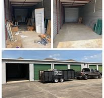 Large storage unit clean-out and junk removal.