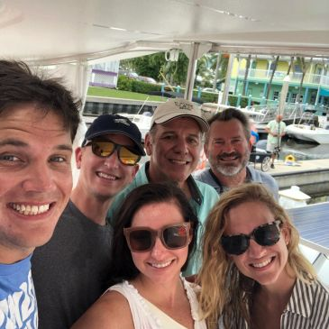 Smiles all around Sail Bolero Catamaran Tours Good Friends Good Times
