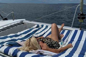 Sail Bolero Rest and Relaxation Catamaran Sailing Now imagine this is you.  Sail Bolero Catamaran Tours