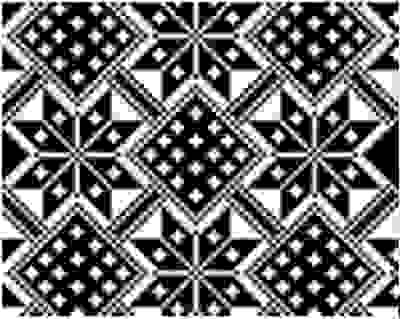 2 color snow flake jacquard pattern