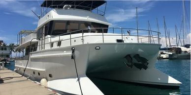Yacht Delivery Solutions delivered this power catamaran from Kudat to Langkawi