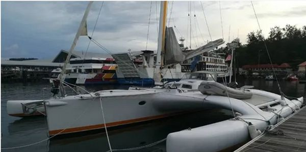 Yacht Delivery Solutions delivered this Dick Newick Trimaran