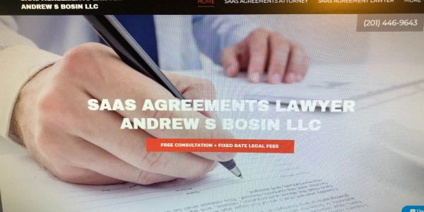 SaaS Attorney Andrew S Bosin LLC please call for a free initial consultation at 201-446-9643.