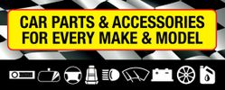 car parts and accessories, motor factors, car batteries, number plates