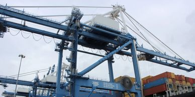 We often visit the SC Ports Authority and report on the cranes, containers and the garage ships.